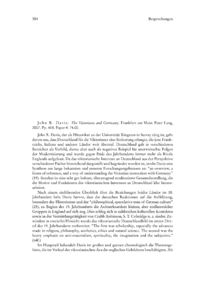 Dokument John R. Davis: The Victorians and Germany. Frankfurt am Main: Peter Lang, 2007. Pp. 418. Paper € 74.00.