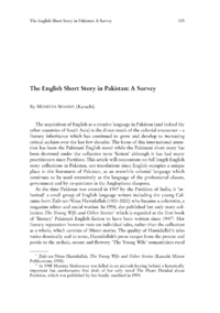 Dokument The English Short Story in Pakistan: A Survey