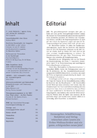 Dokument Inhalt/Editorial