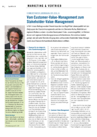 Dokument Standortfaktor Lebensqualität (Teil II): Vom Customer-Value-Management zum Stakeholder-Value-Management