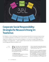 Dokument Corporate Social Responsibility: Strategische Neuausrichtung im Tourismus