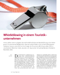 Dokument Whistleblowing in einem Touristikunternehmen