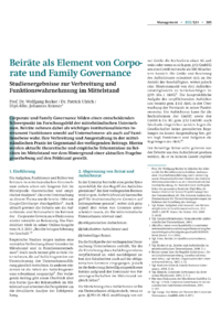 Dokument Beiräte als Element von Corporate und Family Governance