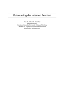 Dokument Outsourcing der Internen Revision