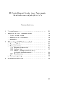 Dokument IT-Controlling mit Service Level Agreements – SLA Performance Cycle (SLAPeC)