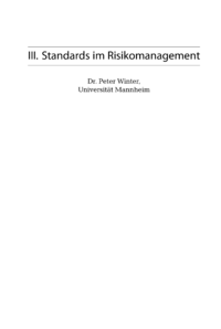 Dokument Standards im Risikomanagement