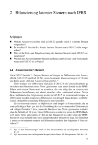 Dokument Bilanzierung latenter Steuern nach IFRS