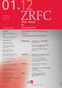 Dokument Risk, Fraud & Compliance Ausgabe 01 2012