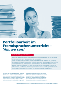 Dokument Portfolioarbeit im Fremdsprachenunterricht – Yes, we can!