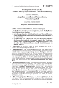 Dokument § 1 SGB VII Prävention, Rehabilitation, Entschädigung)