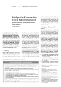 Dokument Erfolgreiche Kommunikation in Krisensituationen