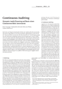 Dokument Continuous Auditing