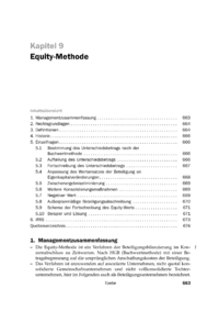 Dokument Equity-Methode