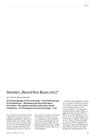 "Dokument Daimlers ""Record Run Buses 2012"""