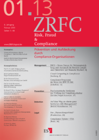 Dokument Risk, Fraud & Compliance Ausgabe 01 2013