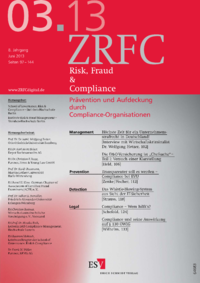 Dokument Risk, Fraud & Compliance Ausgabe 03 2013