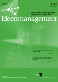 Dokument Ideenmanagement Ausgabe 02 2013