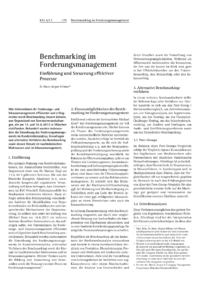 Dokument Benchmarking im Forderungsmanagement