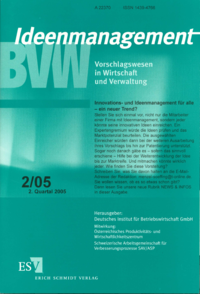 Dokument Ideenmanagement Ausgabe 02 2005