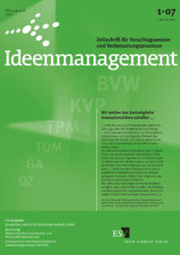 Dokument Ideenmanagement Ausgabe 01 2007