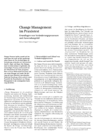 Dokument Change Management im Praxistest