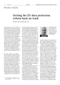 Dokument Getting the EU data protection reform back on track