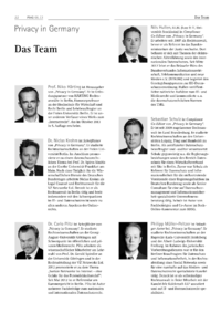 Dokument Privacy in Germany – Das Team