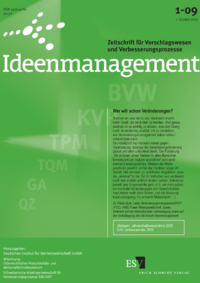 Dokument Ideenmanagement Ausgabe 01 2009