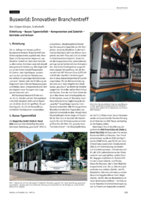 Dokument Busworld: Innovativer Branchentreff