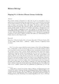 Dokument Mapping 9/11: A Review of Recent German Scholarship