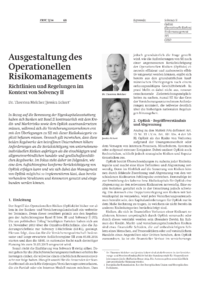 Dokument Ausgestaltung des Operationellen Risikomanagements