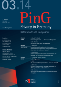 Dokument PinG Privacy in Germany Ausgabe 03 2014
