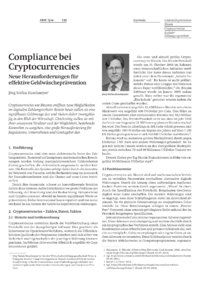 Dokument Compliance bei Cryptocurrencies