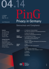 Dokument PinG Privacy in Germany Ausgabe 04 2014