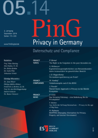Dokument PinG Privacy in Germany Ausgabe 05 2014