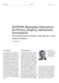 Dokument MAPPING (Managing Alternatives for Privacy, Property and Internet Governance)