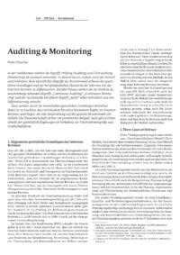 Dokument Auditing & Monitoring