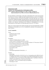Dokument Kühlschmierstoffe – Analyse von wassergemischten Kühlschmierstoffen: Teil 6: Methyl-2,3-dihydroisothiazol-3-on (MI), 5-Chlor-2-methyl-2,3-dihydroisothiazol-3-on (CMI), 2-n-Octyl-2,3-dihydroisothiazol-3-on