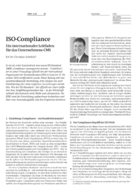 Dokument ISO-Compliance