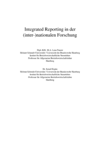 Dokument Integrated Reporting in der (inter-)nationalen Forschung