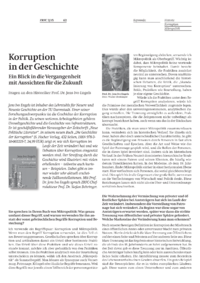 Dokument Korruption in der Geschichte