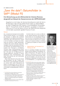 "Dokument ""Save the date"": Datumsfelder in SAP ®  (Modul FI)"
