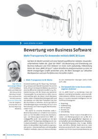 Dokument Bewertung von Business Software