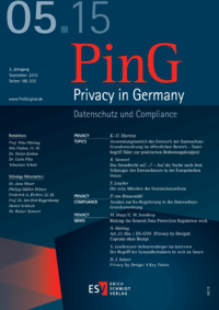 Dokument PinG Privacy in Germany Ausgabe 05 2015