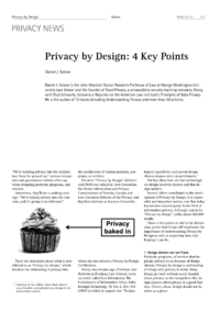 Dokument Privacy by Design: 4 Key Points