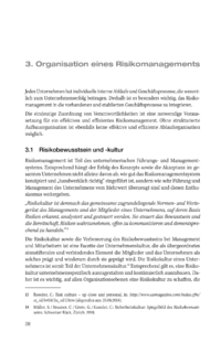 Dokument Organisation eines Risikomanagements