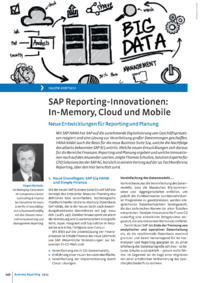 Dokument SAP Reporting-Innovationen: In-Memory, Cloud und Mobile