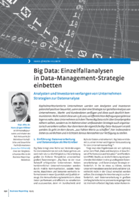 Dokument Big Data: Einzelfallanalysen in Data-Management-Strategie einbetten