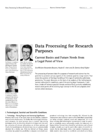 Dokument Data Processing for Research Purposes