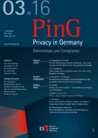 Dokument PinG Privacy in Germany Ausgabe 03 2016